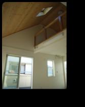 越谷市K様邸ロフトと無垢板天井