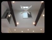 越谷市M様邸リビング上は勾配天井の吹き抜け